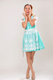 Astonished bavarian girl Stock Photography