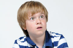 Astonished boy Royalty Free Stock Images