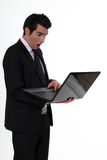 An astonished businessman. Stock Images