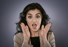 Astonished businesswoman Stock Image