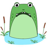 Astonished Cartoon Monster Royalty Free Stock Photography