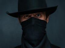 Astonished cowboy stock photos