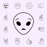Astonished extraterrestrial icon. Emoji icons universal set for web and mobile. On color background royalty free illustration