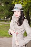 Astonished fashionable girl Royalty Free Stock Photography