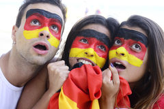 Astonished German sport soccer fans. Stock Image