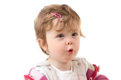 Astonished girl Stock Photography