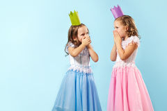 Astonished girls Stock Photo