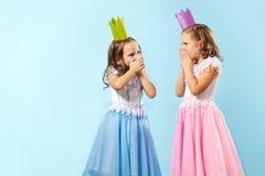 Astonished girls Stock Photo