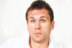 Astonished guy Stock Photography