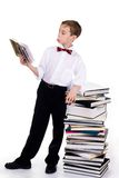 Astonished schoolboy Royalty Free Stock Images