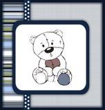 Astonished teddy bear greeting card Stock Photo