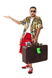 Astonished tourist Stock Images