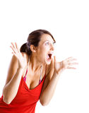Astonished woman Royalty Free Stock Photo
