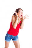 Astonished woman Royalty Free Stock Photography