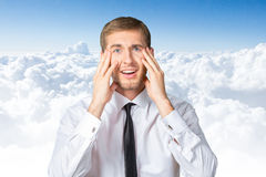 Astonished young businessman Stock Photo