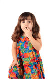 Astonished young girl Royalty Free Stock Photos
