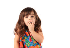 Astonished young girl Stock Photography