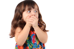Astonished young girl Royalty Free Stock Image