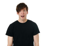 Astonished young man Royalty Free Stock Images