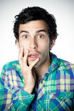 Astonished young man Stock Photography