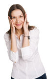 Astonished young woman Royalty Free Stock Photo