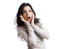 Astonished young woman Stock Photo