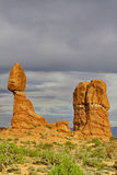 Astonishing Balanced Rock, an iconic sandstone formation, in Arc Stock Image
