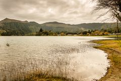 The astonishing Lagoon of the Seven Cities Lagoa das 7 cidades. In Sao Miguel Azores,Portugal Royalty Free Stock Images