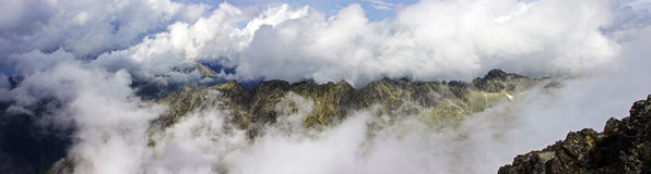 Astonishing panorama view of the Tatra Mountains Stock Photography