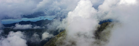 Astonishing panorama view from the top of Krivan Peak Royalty Free Stock Image
