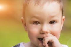 Astonishing Portrait Of Cute Caucasian Little Boy Royalty Free Stock Images
