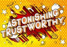 Astonishing Trustworthy - Vector illustrated comic book style phrase. vector illustration