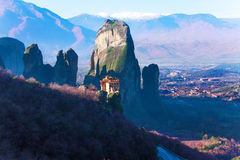 Astonishing view on Holy Monastery of Rousanou Royalty Free Stock Images
