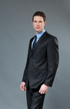Astonishing young businessman royalty free stock photography