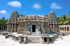 The astonishingly beautiful Keshava Temple. In Somnathpur, Karnataka, India royalty free stock photo