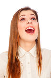 Astonishment young woman Royalty Free Stock Photo