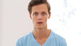Astonisihed and Shocked Young Man, Amazed, Portrait Royalty Free Stock Photo
