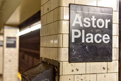 Astor miejsca stacja metru - Miasto Nowy Jork Zdjęcie Stock