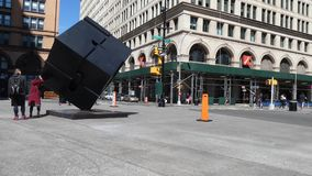Astor Place in New York City stock video