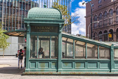 Astor Place Subway Station em New York imagem de stock