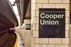 Astor Place Subway Station - New York City fotos de stock
