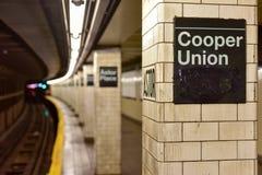 Astor Place Subway Station - New York City Royalty Free Stock Photos