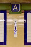 Astor Place Subway Station - New York City Stock Images
