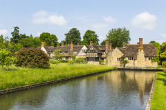 Astor wing with Hever Castle Moat Stock Photo