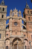 Astorga cathedral. Exterior of Astorga town cathedral, Leon, Spain Royalty Free Stock Photos