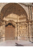 Astorga cathedral. Exterior of sculpted door on Astorga cathedral, Leon, Spain Stock Photo