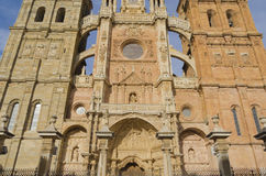 Astorga cathedral. Facade, Castile-Leon, Spain Royalty Free Stock Images