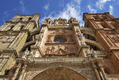 Astorga Cathedral facade Royalty Free Stock Images
