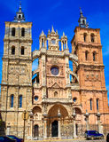 Astorga cathedral in Way of Saint James at Leon Royalty Free Stock Images