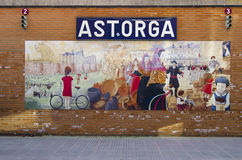 Astorga coach station Stock Image